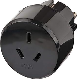 Brennenstuhl 旅行插头 / 旅行适配器(旅行插座适配器适用于:欧洲插座和澳大利亚,中国插头)黑色