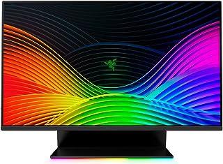Razer 雷蛇 Raptor - 27 英寸游戏显示器带 144 Hz 显示屏(WQHD 2560 x 1440,IPS,1ms 响应,HDR 400,NVIDIA G-Sync + AMD FreeSync,Razer Chroma RGB...