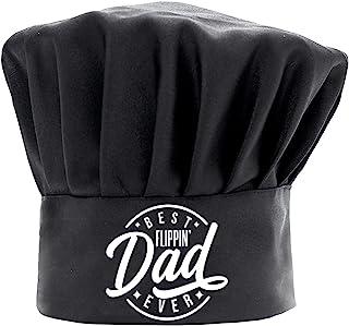 男士厨师帽趣味黑色,Best Flippin Dad Ever 烹饪帽子可调节厨房厨师帽,适合父亲节、圣诞节的礼物