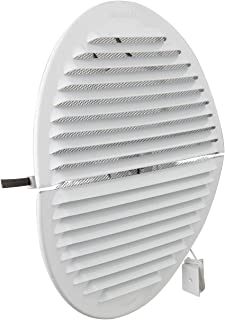La Ventilation GABDF200R 通风格栅,圆形,可折叠,铝,白色喷漆,带昆虫网,直径230毫米