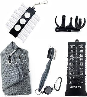 kcrygogo 高尔夫清洁套件高尔夫俱乐部清洁刷,高尔夫划线计数器计分器,超细纤维毛巾,高尔夫球架和球座套件高尔夫配件男女