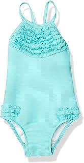 Seafolly 女式褶边高领背心连体泳衣