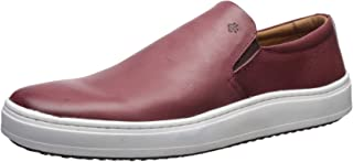 Brothers United 男士皮革奢华一脚蹬威尼斯运动鞋