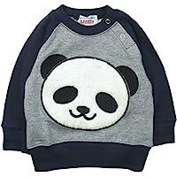 《秋冬春对应》 GARACH(GARACH) 里毛 毛茸茸的熊猫吊带衫 NO.AH-1831605 [対象] 24ヶ月…