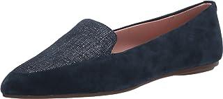 Taryn Rose 女士 Faye 丝滑麂皮乐福平底鞋