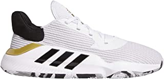 adidas Pro Bounce 2019 低帮鞋 – 男式篮球白色/核心黑色/金色金属