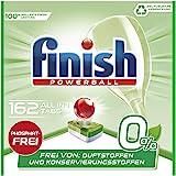 Finish 0% 多效合一洗碗機用洗滌塊 無磷酸鹽 可去除頑固油污 可回收 162片大包裝,6包裝(6 x 27片)
