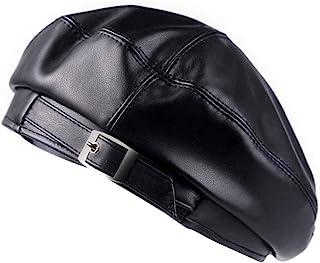 ZLM BAG 美国女式人造皮革贝雷帽复古休闲帽无檐小便帽