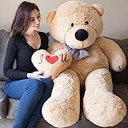Yesbears 大号泰迪熊 5 英尺棕褐色超软(含枕芯)