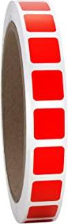 1.27 cm 明亮红色方形颜色编码标签卷,半亮,1000 张贴纸。12.75 cm 正方形