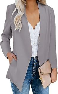 GRAPENT 女式前开商务休闲口袋工作西装外套