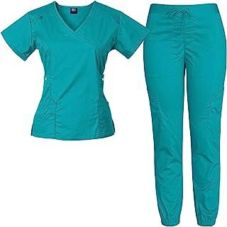 Medgear 女式 12 口袋弹力慢跑裤磨砂套装
