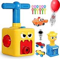 气球动力汽车 - 气球赛车 空气动力学汽车儿童科学玩具,儿童惯性动力气球车,充气 STEM 气球泵汽车赛车套装,适合男孩…