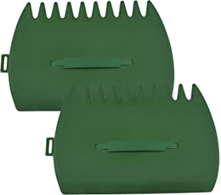 Morobor 大号叶子勺手耙,2 个花园和庭院塑料叶子抓取器,多用途用于叶子草垃圾拾取,*
