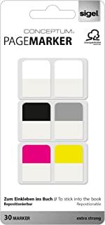 Sigel CO100 CONCEPTUM PageMarkers,索引粘附说明,5 种颜色,20x26 毫米,30 条