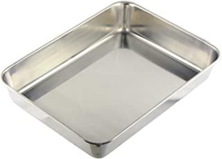 Nagao 燕三条 方盘 XXL尺寸 35厘米 适用于做菜用 18-8不锈钢 10枚装 日本制造