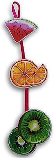 Summer Fruits(西瓜、橙子和石灰)可爱闪亮连接悬挂装饰标志 - 50.8 厘米高 x 11.9 厘米横跨