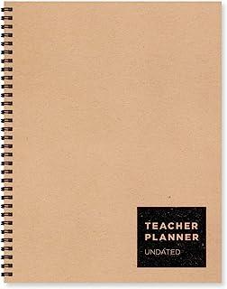 大号牛皮纸无日期的 22.86 厘米 x 27.94 厘米每周教师计划书