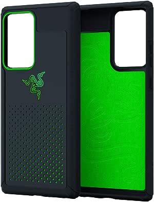 Razer 雷蛇 Arctech Pro 适用于 Galaxy Note20 Ultra 手机壳:Thermaphene & Venting 性能冷却 - 兼容无线充电-跌落测试认证高达 10 英尺 - 兼容 5G - 哑光黑色