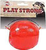 Ethical Pets Play Strong 几乎不可破坏的橡胶球狗狗玩具 红色 3.75 英寸