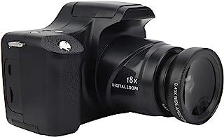 数码相机,3 英寸 LCD 屏幕 18 倍变焦高清单反相机 2400 万像素照片拍摄 1500 毫安大容量电池摄像机,用于拍照/录像(标准+广角镜头)