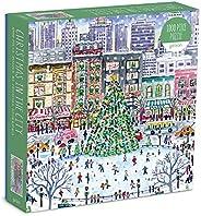 Galison Michael Storrings 城市中的圣诞节拼图,1000 块,27 英寸 x 20 英寸(约68.58 x 50.8厘米) – 具有令人惊叹的假日艺术品的高难度拼图 – 厚实、坚固的图块,具有挑战