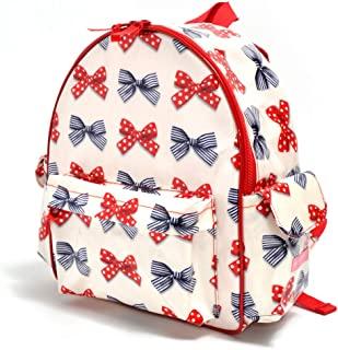 幼儿园背包 单肩包 幼儿园包 托儿所包 波尔卡圆点和条纹法式缎带(象牙色) N0631000