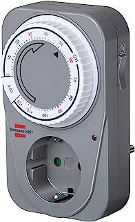 Brennenstuhl 百能斯图 倒计时器 MC 120 机械定时器插座(插座定时器带倒计时功能和增强触摸保护)灰色