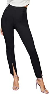 SOLY HUX 女式高腰开叉下摆紧身长裤