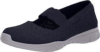 Skechers 女式 Seager-Power Hitter-Engineered Mary Jane 平底鞋