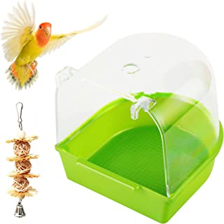 PETWAKEY-ST 鸟笼浴室盒,悬挂鹦鹉淋浴配件浴缸适用于鹦鹉金丝雀鹦鹉爱鸟预算(*)