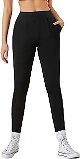 MakeMeChic 女式斜口袋高腰慢跑裤
