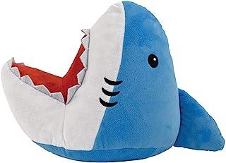 iscream Shark Attack!3D 形状 33.02cm x 45.72cm 刺绣羊毛枕头