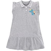 Eocom 小女孩柔软夏季棉质短袖连衣裙 T 恤休闲卡通连衣裙