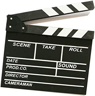 KISEER 30.48 厘米 x 27.94 厘米电影电影拍板 木质电影拍板 电影拍板 黑白色