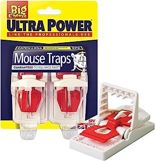 The Big Cheese Ultra Power 捕鼠器(即咬,容易设置,两件装)