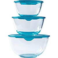 Pyrex 带盖子 耐热玻璃碗 3 件套 PRX1002