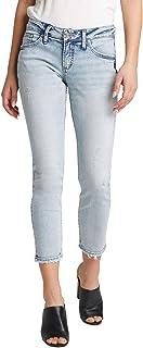 Silver Jeans Co. 男友款中腰修身牛仔裤