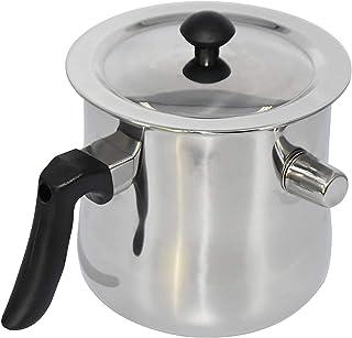APlayfulBee Bee Wax Melting Pot 不锈钢养蜂工具 不粘锅耐用蜂蜡熔锅便携式蜡杯带手柄蜡烛制作浇注锅