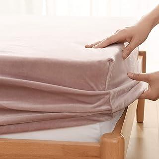 Kumori 床单 超细纤维 秋冬用 保暖 光滑 毛毯触感 (皇后?160X200cm, 摩卡)