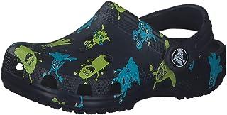Crocs 卡骆驰儿童经典图案洞洞鞋 | 一脚蹬水鞋 适合男孩和女孩