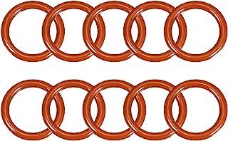 uxcell 硅胶 O 形圈,外径26毫米,内径19毫米,3.5毫米宽,VMQ密封圈垫圈,红色,10个装