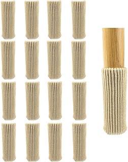 SUNTRADE 16 件家具腿袜针织椅子腿袜轻松移动并减少噪音木地板保护器(米色)