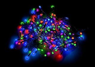 2000 LED 紧凑灯*电缆,带 8 种效果多功能自动*室内/室外圣诞假期家居装饰,多色