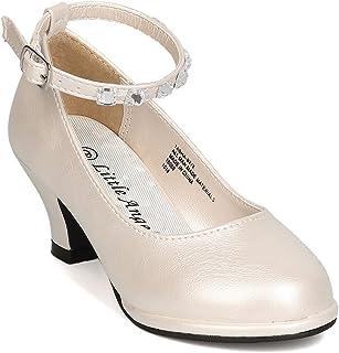 女童人造革水钻踝带儿童鞋跟 GB52