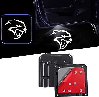 道奇所有型号门灯汽车欢迎灯,2 件,适用于道奇复仇者充电器Magnum Challenger (标志 03 挑战者)