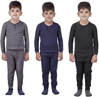 Artic Pole 2 件套男童保暖长内衣套装 - 打底衫套装寒冷天气,睡衣 - 男孩贴身睡衣