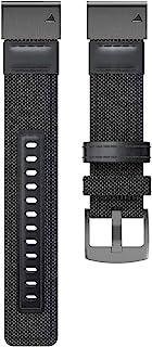 EANWireless 兼容 Garmin 佳明 Fenix 6 表带,轻松贴合 22 毫米尼龙替换表带,适用于 Fenix 6/Fenix 6 Pro/Fenix 5/Fenix 5Plus 智能手表,黑色