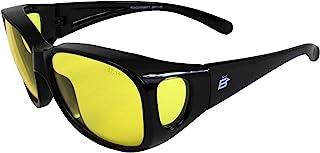 Birdz 眼镜 孔雀 大号 OTG ( 戴眼镜) 适合戴眼镜黑框黄色镜片