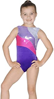 Roch Valley 无袖罗马体操紧身连衣裤 年龄 5-6 岁淡紫色/银色/宝石蓝